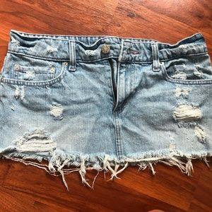 BDG Distressed Denim Mini Skirt